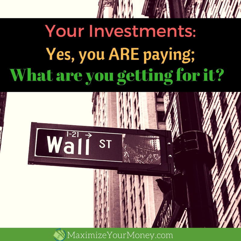 Your Investments - what you are getting for the cost